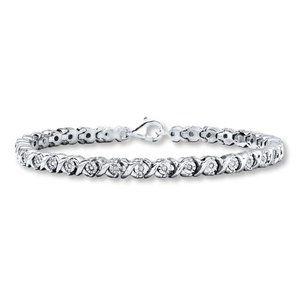 5 Carats round cut diamond ladies tennis bracelet